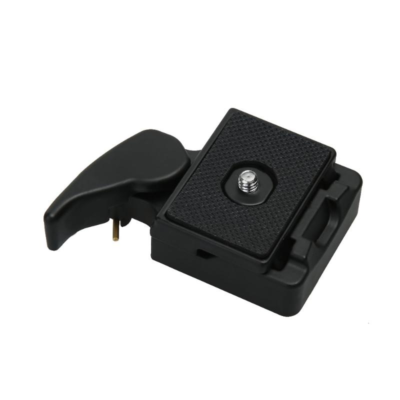 3/8 Screw Adapter Mini Portable Camera Tripod Quick Release Plate Mount Tripod Clamp Plate Adapter Mount for SLR DSLR Camera