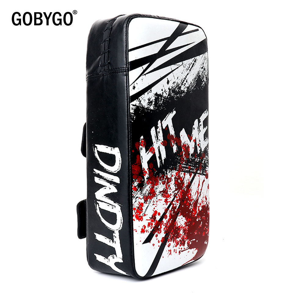GOBYGO 1PCS Kicking Muay Thai Boxing Pads Mma Shield Focus Target Taekwondo Kickboxing Martial Arts Training Equipment