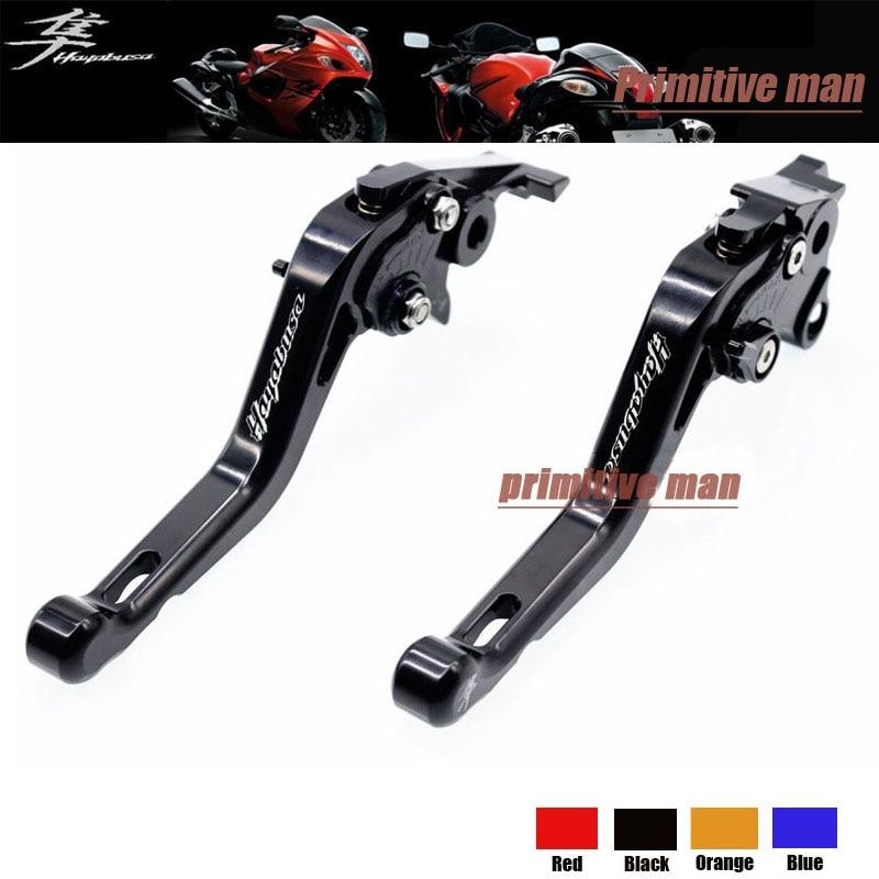 ФОТО For SUZUKI GSX1300R GSX 1300R Hayabusa 2008-2015 Motorcycle Accessories Short Brake Clutch Levers Black