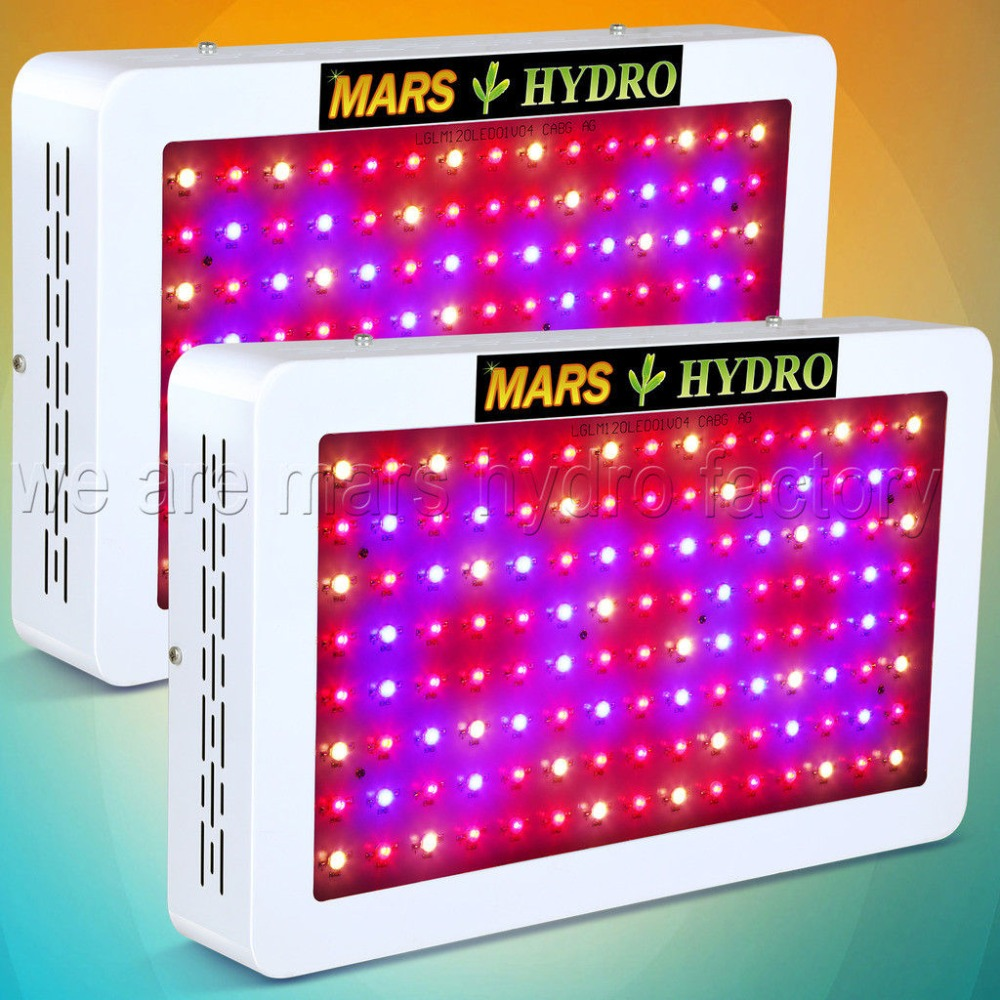 2pcs Mars Hydro 600W LED Grow Light Full Spectrum Hydroponic System Indoor Plant for Grow Tent