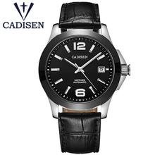 Brand CADISEN Business Watches Mechanical Automatio Wrist Watch Military Clock Waterproof 50M Fashion Watch Relogio Masculino