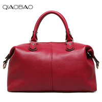 QIAOBAO Latest Women Weave Suede 100 Real Leather Handbag Female Leisure Casual Lady Crossbody Shoulder Bag