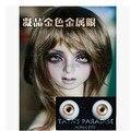 Сияющий Кристалл Золотой BJD Куклы Акриловые Глаза 8 мм, 10 мм, 12 мм, 14 мм 16 мм, 18 мм SD MSD YOSD Лутс DOD DZ AS