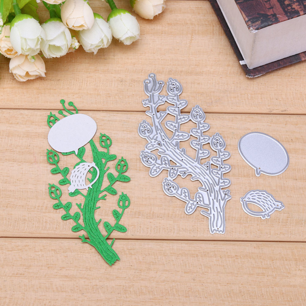 Bird Background Cutting Dies Stencil DIY Scrapbooking Album Paper Card Embossing