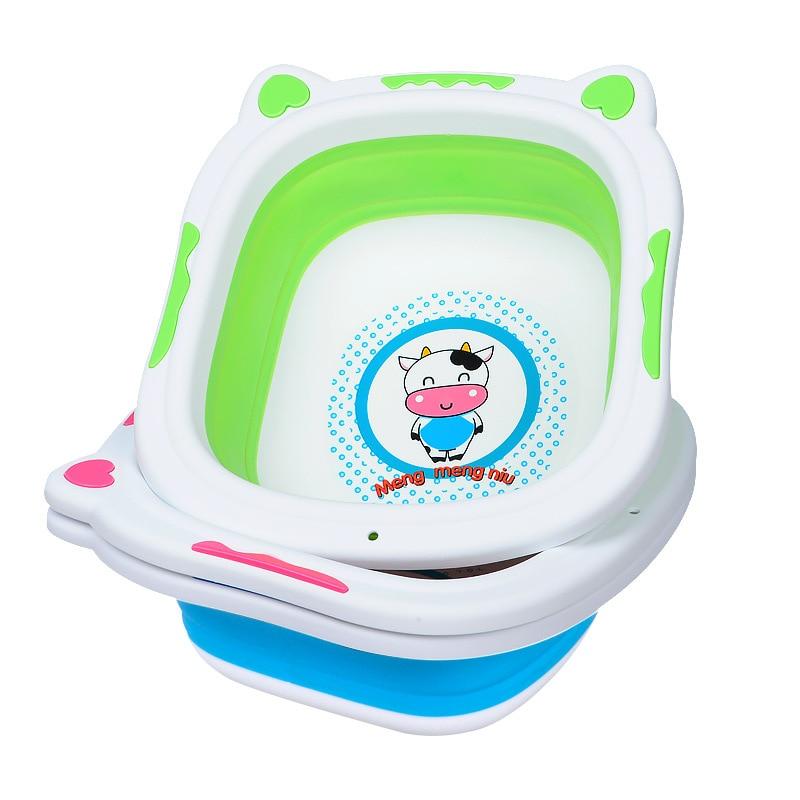 Купить с кэшбэком large baby bathtub infant shower Foldable portable Plastic newborn Baby Bath Tub toddler tub Bloom For Bathing pool baby bathtub