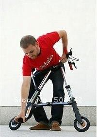 Free shipping,A - bike  mini foldable bike,6 inch, free pneumatic PU tire