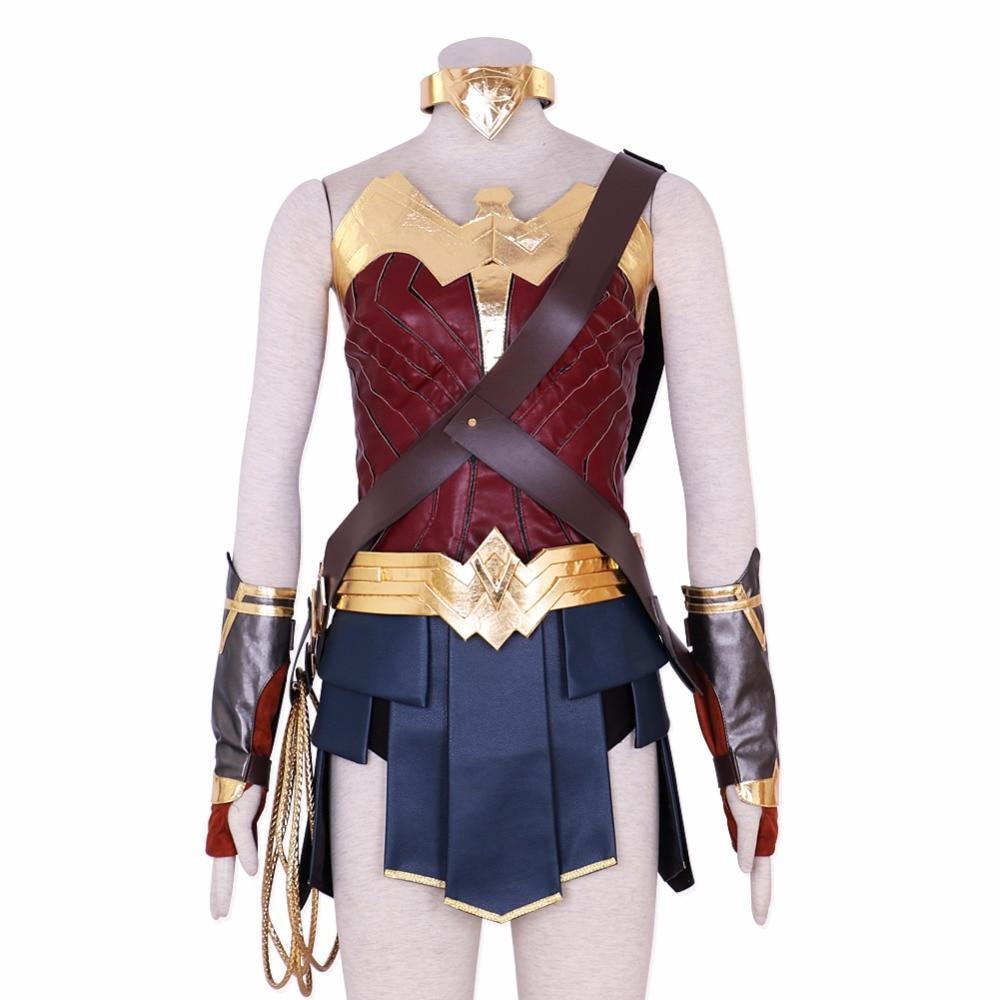 Wonder Woman Costume Halloween Justice League Princess Diana Dress Cosplay Full Set DC Movie
