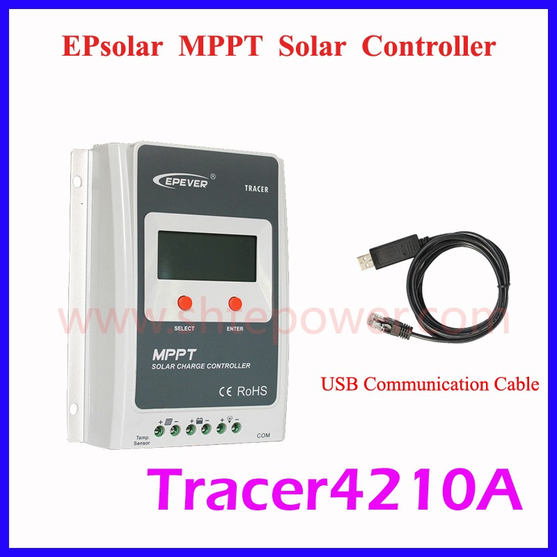 tracer 4210A 12v 24v auto solar controller ,40a mppt solar charge controller 100v for solar system use micro inverters on grid tie with mppt function 600w home solar system dc22 50v input to ac output for countries standard use