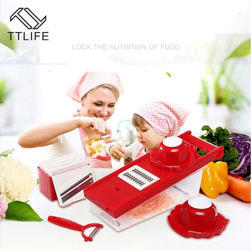 TTLIFE Multifunktions-Gemüseschneider Mandoline Slicer Box mit 6 - Küche, Essen und Bar - Foto 6