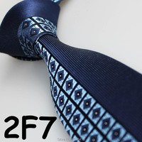 Cheap Sell ! 2018 Latest Style Fashion/Business Geometric Dual Front Navy Blue/Light Blue/White slim tie/ties for men novelty