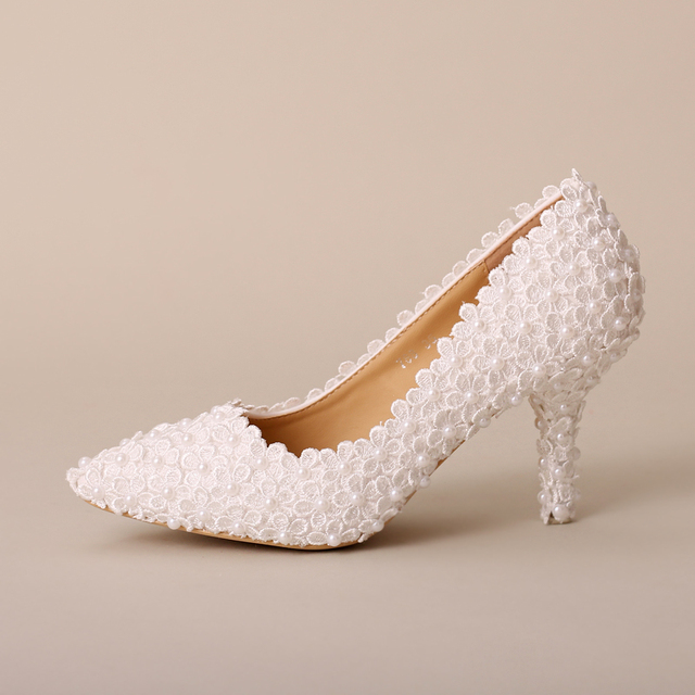 79e7fd91 Estética flor de la perla zapatos de novia talones ultra altos talones  finos zapatos de vestir