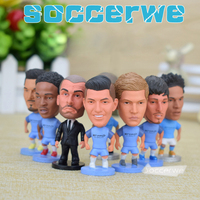 9PCS Display Box Soccer CITY FC Player Star Figurine 2 5 Action Doll Classic Version The