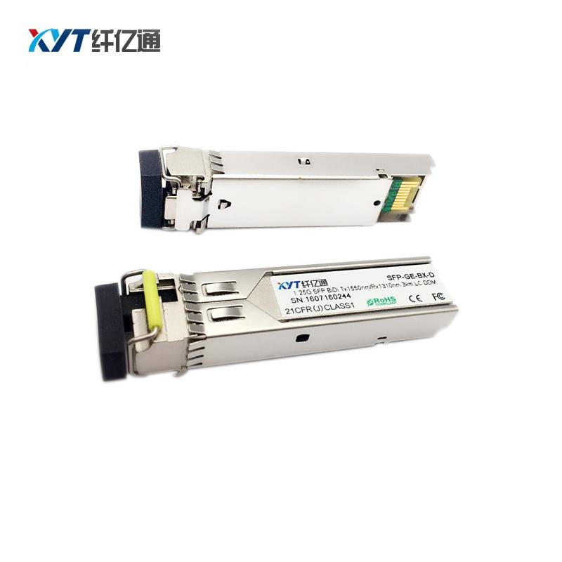 1 Զույգ 1310 / 1550nm (1550 / 1310nm) Մեկ ռեժիմ 1000M SFP 1GE BIDI օպտիկական հաղորդիչ 3 կմ
