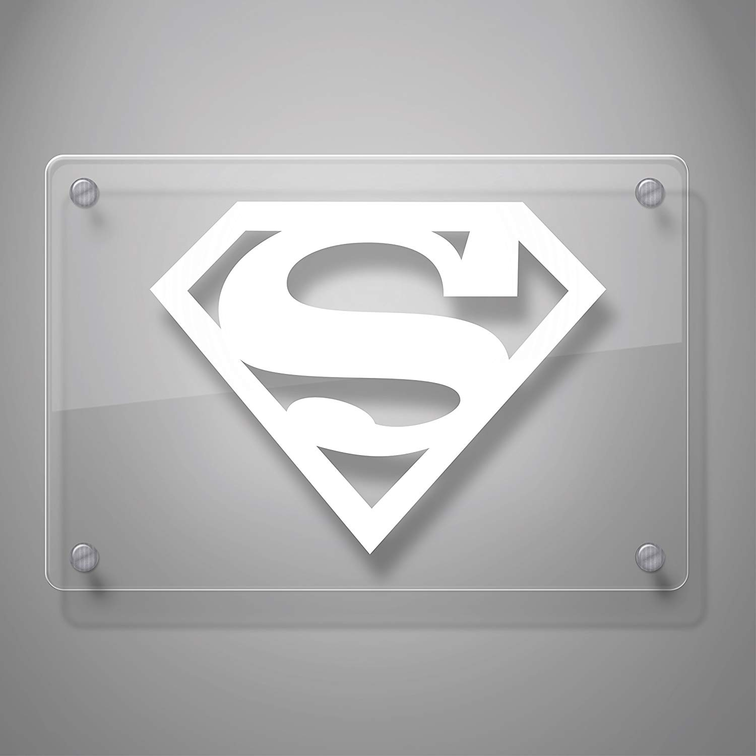 Superman Decal Sticker for Car Window Laptop and More 805 4 quot x 5 1 quot White in Car Stickers from Automobiles amp Motorcycles