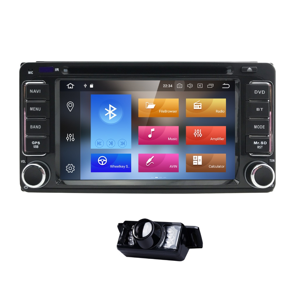 Autoradio 2 din Android 8.0 Car DVD Player For Toyota Rav4 Land cruise 100 Corolla 150 Prado 150 120 hilux matrix yaris Camry TV