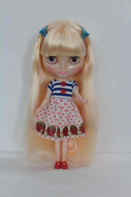 Frete Grátis Transparente RBL-193T Blyth Nu DIY presente de aniversário de boneca para a menina 4 cores grandes olhos com o Cabelo bonito bonito brinquedo