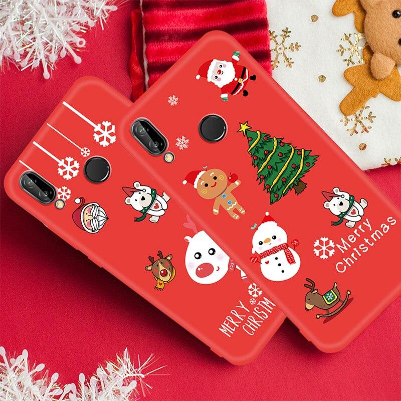 Case For Huawei P20 Lite Pro Mate 20 P10 Lite Nova 3 3E 3I 2I P Smart Plus Cartoon Christmas Santa Soft TPU Cover For Honor 9I