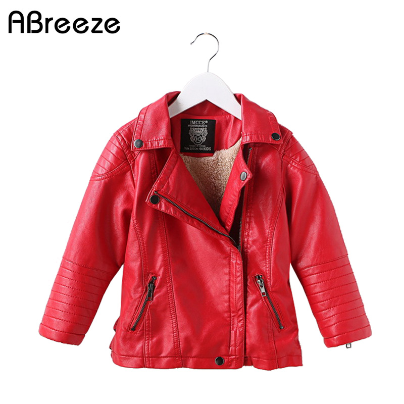 High Quality Leather Jacket children New Brand Autumn Designer Fashion Stand Collar PU Motocycle Jackets Flying Pilot Coats