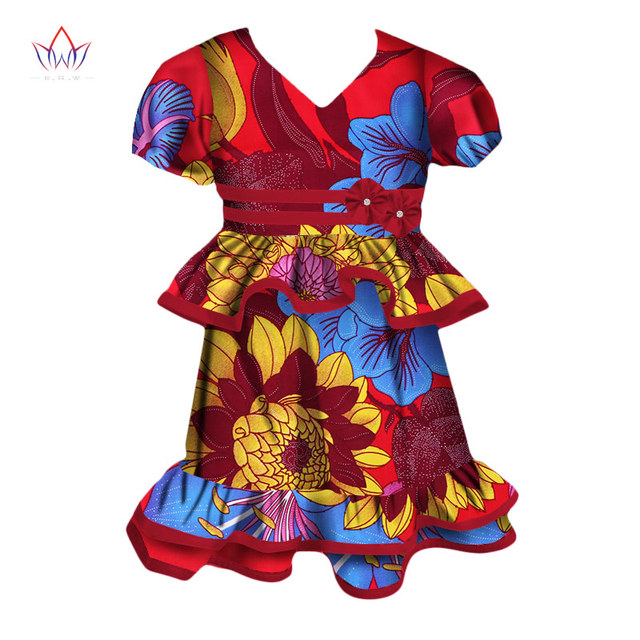 c60c47eb2b6a3 US $39.79 |2019 African Women Clothing Dashiki Traditional Summer suit  Matching Africa Print girl chinese set Children cotton BRW WYT98-in Africa  ...