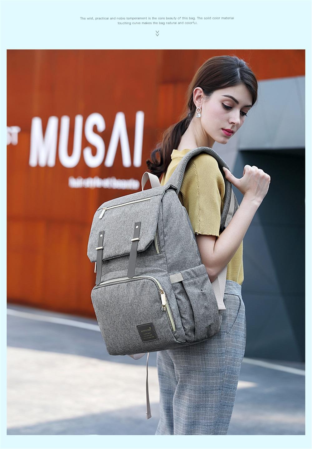 HTB1agwsaoLrK1Rjy1zbq6AenFXak Fashion Large Capacity Baby Nappy Bag Diaper Bag Purse Multifunction USB Mummy Travel Backpack Women Nursing Bags For Mom Daddy