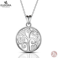 Eudora 100 Real 925 Sterling Silver Family Tree Of Life Pendant Necklaces For Women Fashion Jewelry