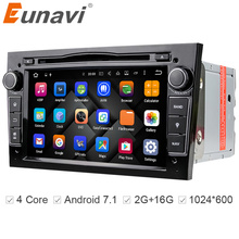 Eunavi 4 ядра android 7.1 1024*600 2 DIN автомобильный DVD Радио стерео для Vauxhall Opel Astra H G VECTRA antara Zafira Corsa GPS Navi