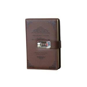 Image 2 - Retro Schreibwaren Tagesordnung Liefert Studenten Schule Büro Business Vintage Geschenke Gewinde Installiert Passwort Notebook Lock Tagebuch
