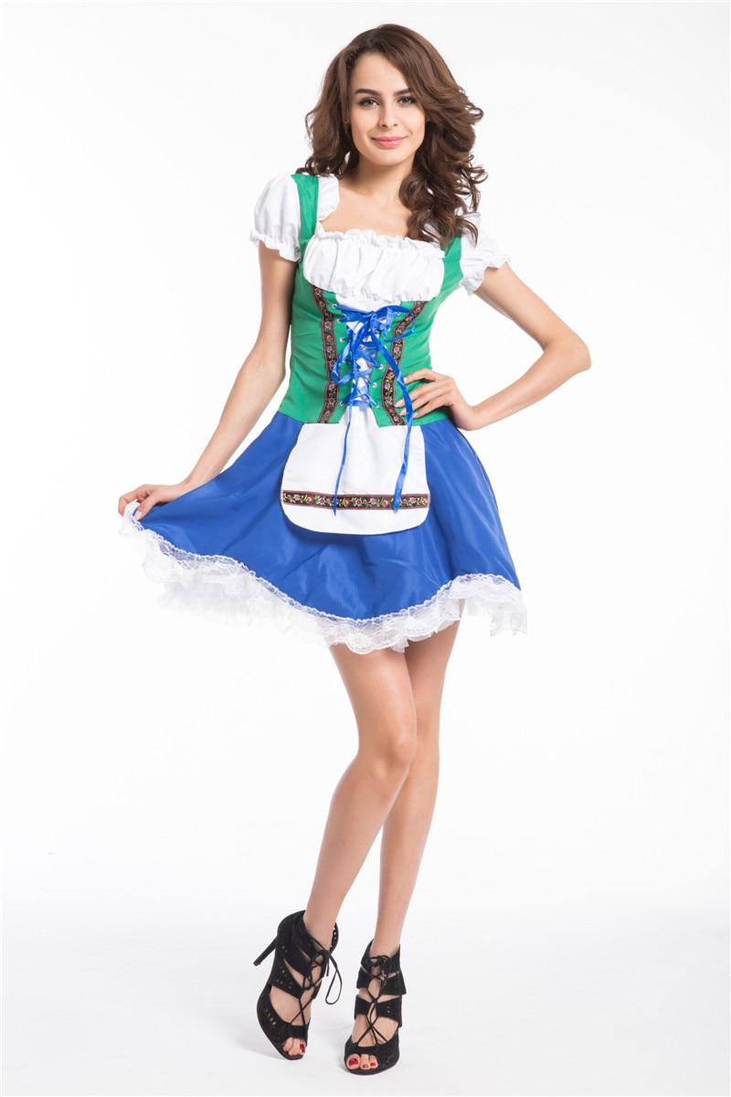 ツ)_/¯Envío Gratis para mujer verde alemán Oktoberfest cerveza Maid ...
