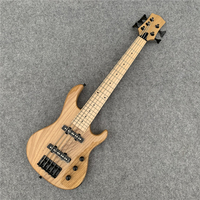 Ash wood. Children, children's 5 string electric bass, Seiko production, birthday gift. Free shipping.