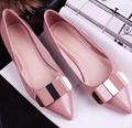 Hot Sale 2017 Spring Autumn Casual Flat Career Shoes Ladies Pointed Toe Flats Slip On Shoes Women Loafers Sapatos Feminino O2205