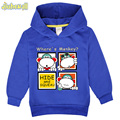 2017 Spring Coat For Kids Children Cartoon Monkey Printed Hoodies Boy Girl Full Sleeve Hooded Costume Baby Sweatshirts FCY058