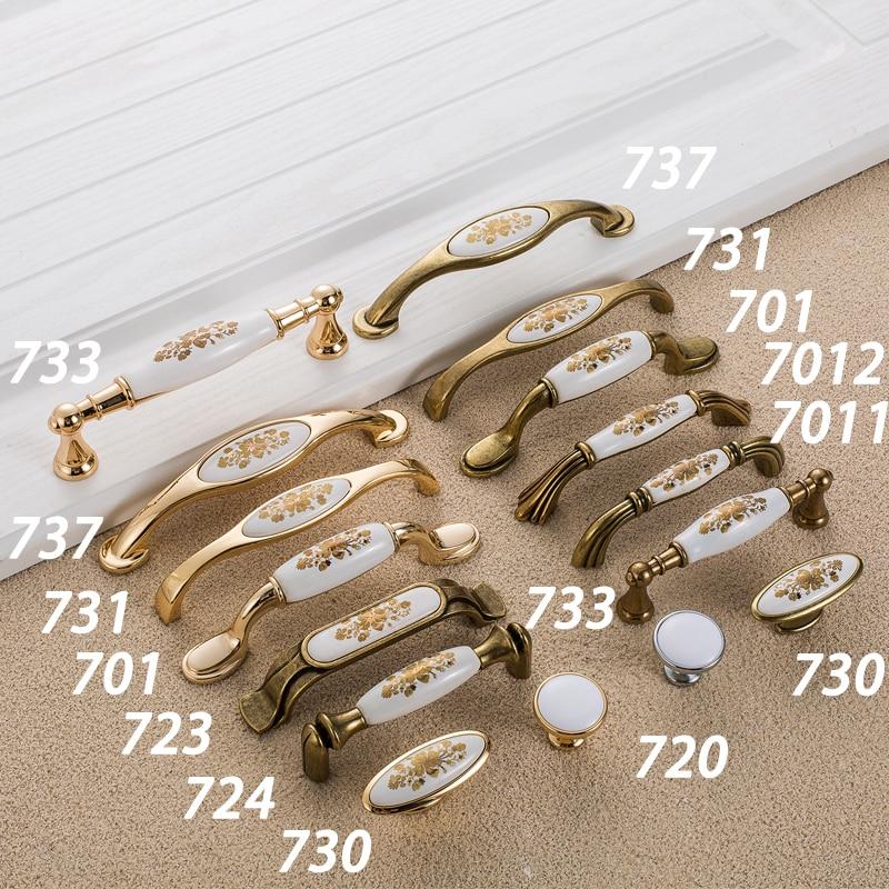 Купить с кэшбэком AOBT Antique Ceramic Cabinet Handles Wardrobe Classical Handles Cabinet Drawer Pull Knobs Minimalist Single Hole Hardware 733
