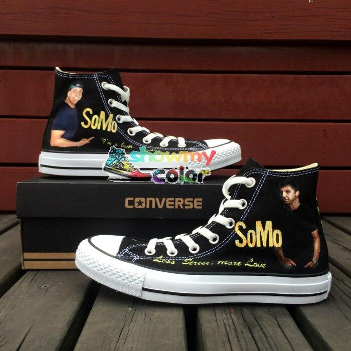 Prix pour Unique Converse Chuck Taylor Hommes Femmes Chaussures de SoMo Custom Design Peint À La Main High Top Sneakers