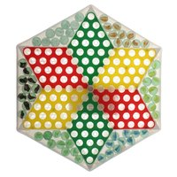 Chinese Checkers Chess with Glass Beads Traditional Chess Family Party Games Intellectual Development Fun Toy for Kids Children