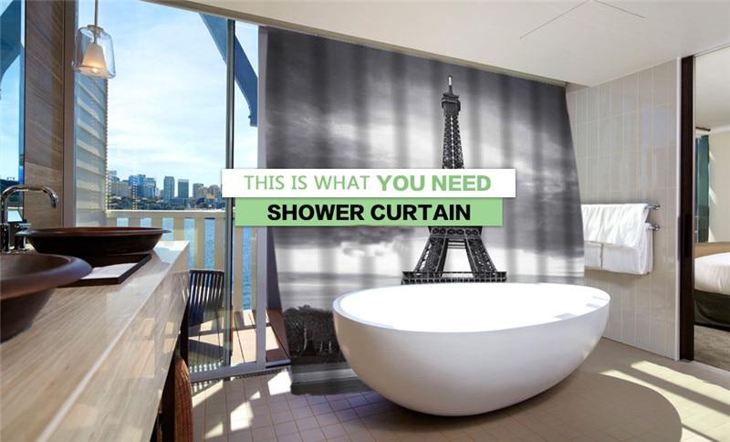 Hugsidea Waterproof Fabric Shower Curtain Lovely Animal Cat