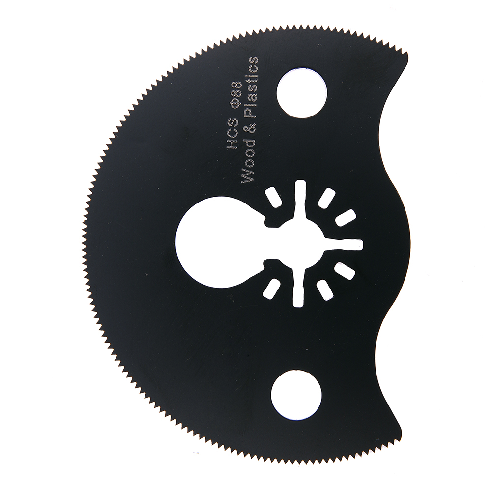 88mm/3.46 Inches Semi Circular High Carbon Carbon Segment Saw Blade Oscillating Mini Woodworking/Metalworking Cutting Tool