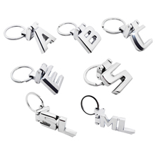 Metal KeyRing Car Accessories Key Chain for Mercedes AMG W210 W203 W204 W205 W211 W212 A B C E ML SL Logo KeyChain 3d amg logo metal stickers on both sides and trunk of the car for mercedes benz w203 w204 w211 w210 a b c e s gle glc 80mm 30mm