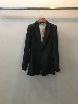 2018 early autumn new suit collar symmetrical pocket decoration, slim, long sleeves, jacket suit, short coat0810