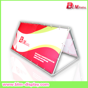 Free shipping 100x200cm Aluminum  Pop Up A Frame Banner