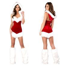 Dámský sexy vánoční kostým s kapucou
