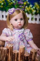 Новые эксклюзивные предназначен очаровательный Песочник светлые яркие голубые глаза фиолетовое платье принцессы для девочек куклы дети и