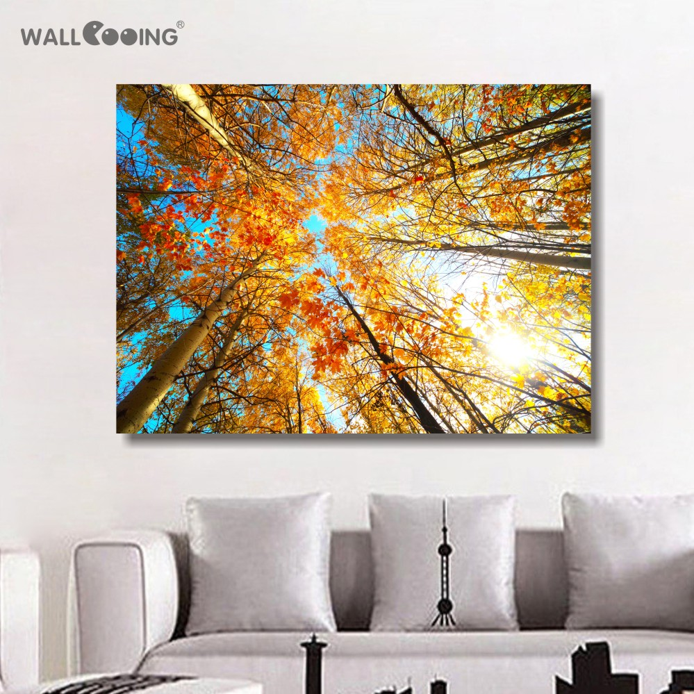 Free Shipping Home Decorators: Free Shipping Painting Panels Wall Art Canvas Green Tree