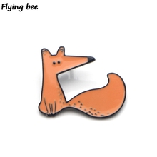 Flyingbee Le Petit Prince Fox Enamel Pin For Clothes Bags Backpack badge Funny Cute Brooch Shirt Lapel Pins X0230