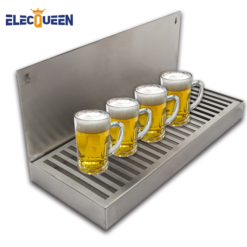 Beer Dripping Tray Cut Out Surface Mount Stainless Steel Drip Tray No Drain Kegging Equipment Bar