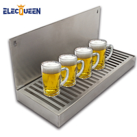 Beer Dripping Tray Cut Out Surface Mount Stainless Steel Drip Tray No Drain Kegging Equipment Bar Accessories 2019 New arrival
