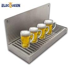 Bier Tropft Tablett Cut Out Oberfläche Montieren Edelstahl Drip Tray Keine Ablauf Fass Ausrüstung Bar Zubehör 2019 Neue ankunft