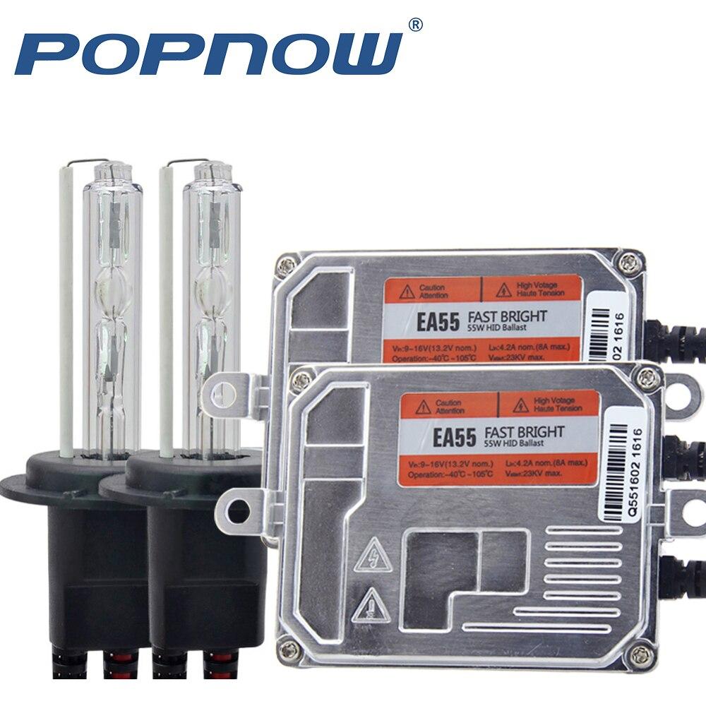 Rapide lumineux AC 55 W xénon H7 HID Kit H4 H1 H11 H8 HB3 HB4 D2S xénon hid ballast voiture lumière phare 4300 K 5000 K 6000 K 8000 K