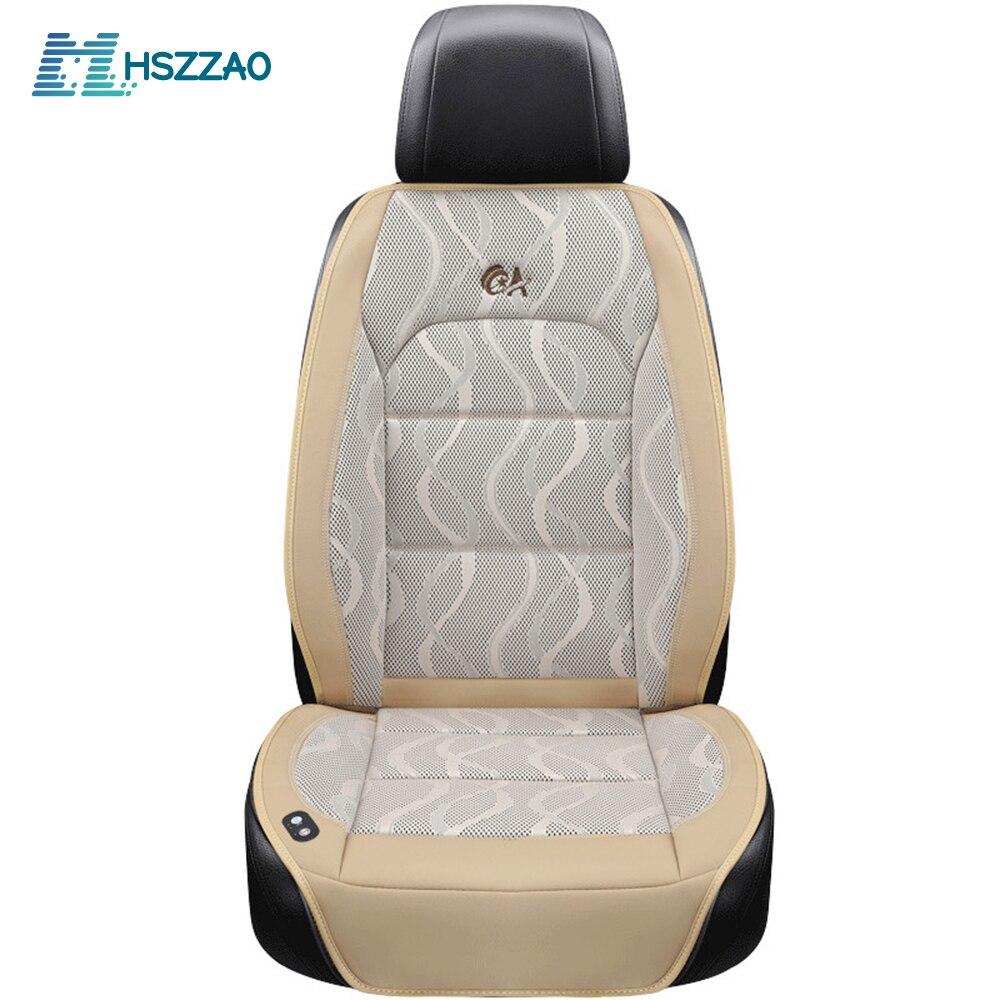 Di lusso 12V Cuscino del Sedile Auto Cuscino D'aria di trasporto con il Ventilatore del Sedile di Massaggio Coperture Seggiolino Auto di Raffreddamento Della Maglia Fredda di Estate di Ventilazione cuscino