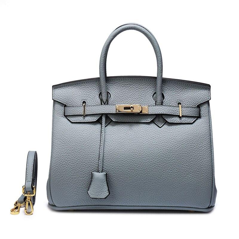 2019 nouveaux sacs à main en cuir véritable femmes Messenger sacs mode luxe serrure conception dames épaule sac à bandoulière célèbre marque sac