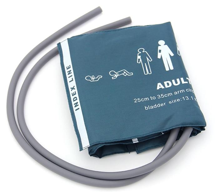 Free Shipping kmtkeramed CM1203 nylon Reusable Blood Pressure Cuffs adult size TWO tube TPU Bladder